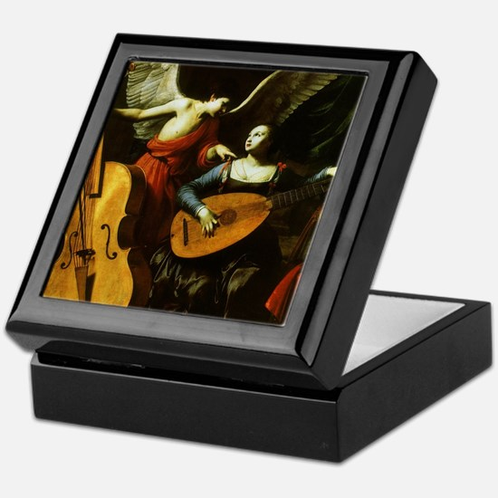 Saint Cecilia and the Angel by Sarace Keepsake Box