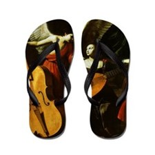 Saint Cecilia and the Angel by Saraceni Flip Flops