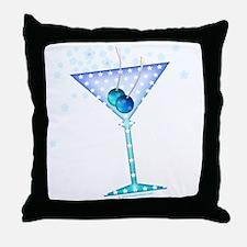 BLUE MARTINI Throw Pillow