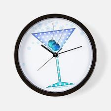 BLUE MARTINI Wall Clock