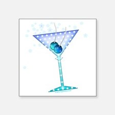 "BLUE MARTINI Square Sticker 3"" x 3"""