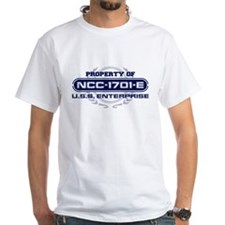 Property of USS Enterprise 1701-E (Blue) T-Shirt