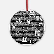 Digits of Pi (Dark) Ornament (Round)