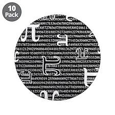 "Digits of Pi (Dark) 3.5"" Button (10 pack)"