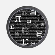 Digits of Pi (Dark) Wall Clock