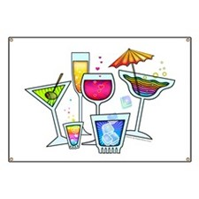 COCKTAIL PARTY GLASSES Banner
