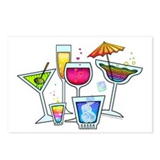 COCKTAIL PARTY GLASSES Postcards (Package of 8)