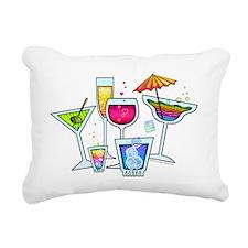 COCKTAIL PARTY GLASSES Rectangular Canvas Pillow