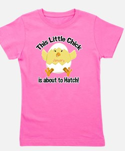Chick about to hatch pregnancy shirt -  Girl's Tee