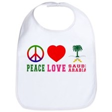 Peace Love Saudi Arabia Bib