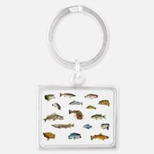 All fish 3 Landscape Keychain