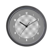 Xmas Snowflake Pattern Wall Clock