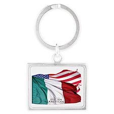 Italian American Landscape Keychain