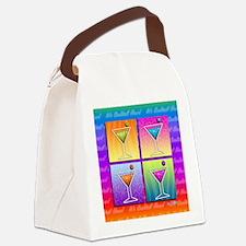 MARTINIS Pop Art Canvas Lunch Bag