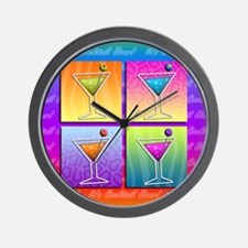 MARTINIS Pop Art Wall Clock