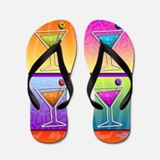 MARTINIS Pop Art Flip Flops