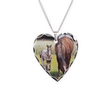 Appaloosa Mare  Foal Portrait Necklace
