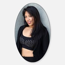 Portrait of a Filipino woman Decal