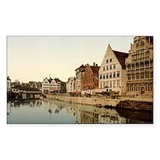 Graslei,_Ghent,_Belgium,_1890s Decal