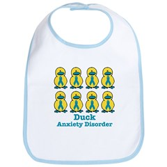 Anxiety Disorder Awareness Ribbon Ducks Bib