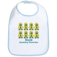 Anxiety Disorder Awareness Ribbon Ducks Bib