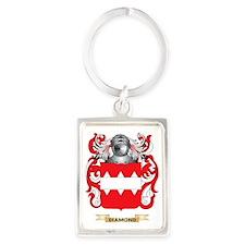 Di Bernardo Coat of Arms Portrait Keychain