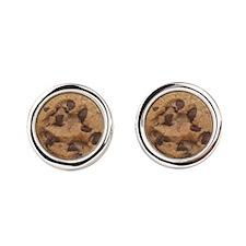 Chocolate Chip Cookie Cufflinks