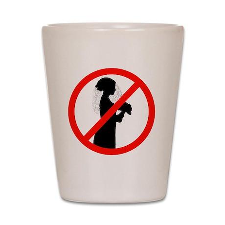 No Wedding Shot Glass