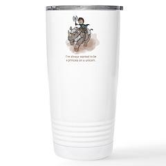Princess on a Unicorn Stainless Steel Travel Mug