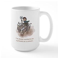 Princess on a Unicorn Mug