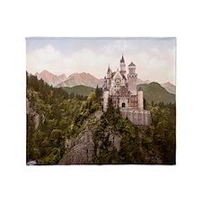 Neuschwanstein_Castle_LOC_print_rota Throw Blanket