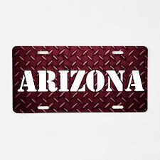 Arizona Diamond Plate Aluminum License Plate