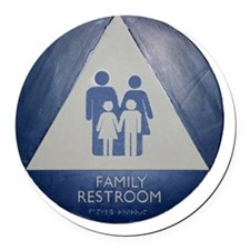 Family Room Round Car Magnet