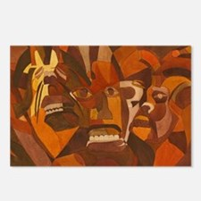 Funny African mask Postcards (Package of 8)