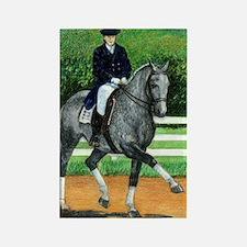 Belgian Warmblood Dressage Horse Rectangle Magnet
