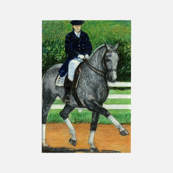 Belgian Warmblood Dressage Horse Rectangle Magnet