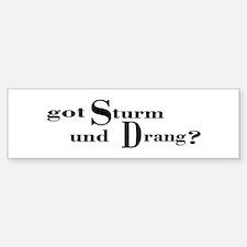 Sturm und Drang (text) Bumper Bumper Bumper Sticker