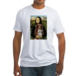 MonaLisa-AussieShep #4 Fitted T-Shirt