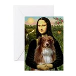 MonaLisa-AussieShep #4 Greeting Cards (Pk of 10)