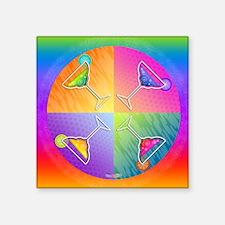 """MARGARITAS Ppo Art Square Sticker 3"""" x 3"""""""