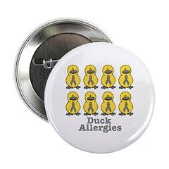 Allergies Awareness Ribbon Ducks 2.25