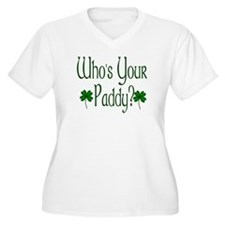 Who's Your Paddy? Plus Size V-Neck T-Shirt