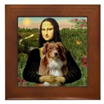 MonaLisa-AussieShep #4 Framed Tile