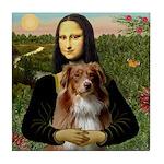 MonaLisa-AussieShep #4 Tile Coaster