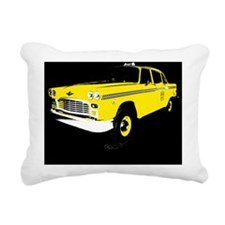 Checker Motors Taxi Cab Rectangular Canvas Pillow