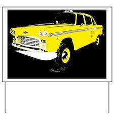 Checker Motors Taxi Cab Yard Sign