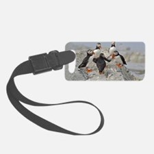 circle of puffins Luggage Tag