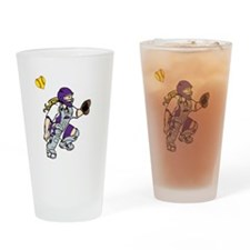 purple2, I love my catcher Drinking Glass