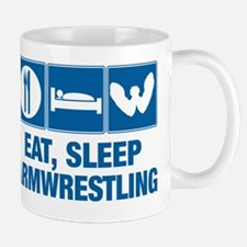 Eat Sleep Armwrestling Small Mugs