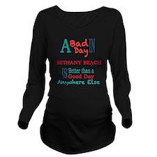 Bethany Beach Long Sleeve Maternity T-Shirt